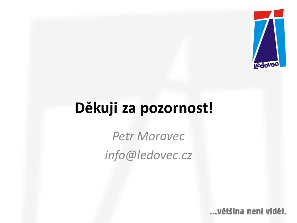 Petr Moravec info@ledovec.cz