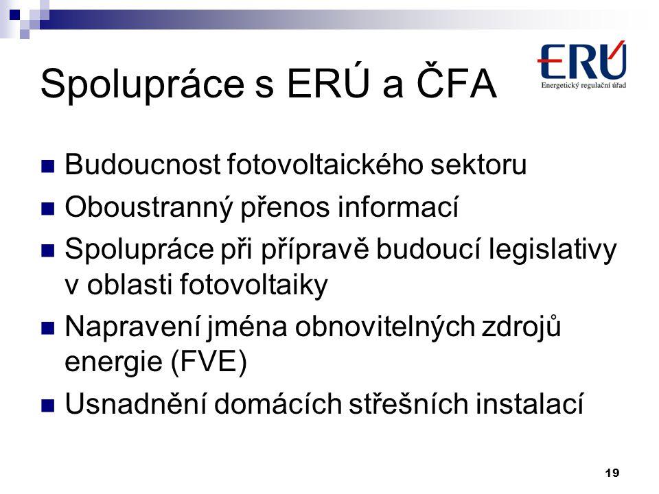 Spolupráce s ERÚ a ČFA Budoucnost fotovoltaického sektoru