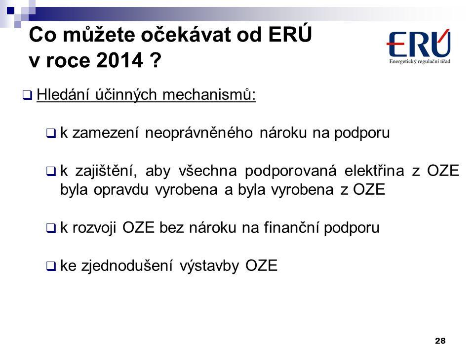 Co můžete očekávat od ERÚ v roce 2014