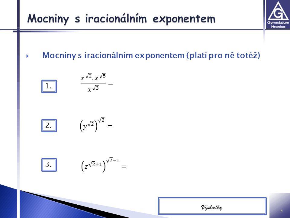 Mocniny s iracionálním exponentem