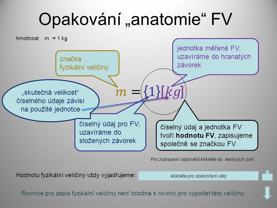 """Opakování """"anatomie FV"""