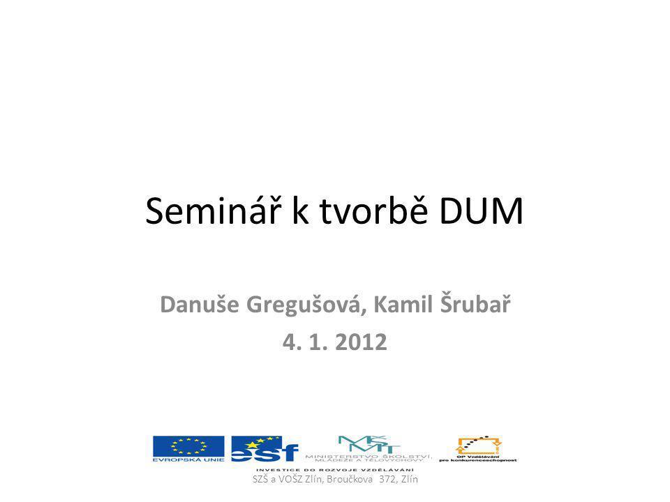 Danuše Gregušová, Kamil Šrubař 4. 1. 2012