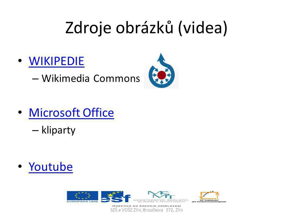 Zdroje obrázků (videa)
