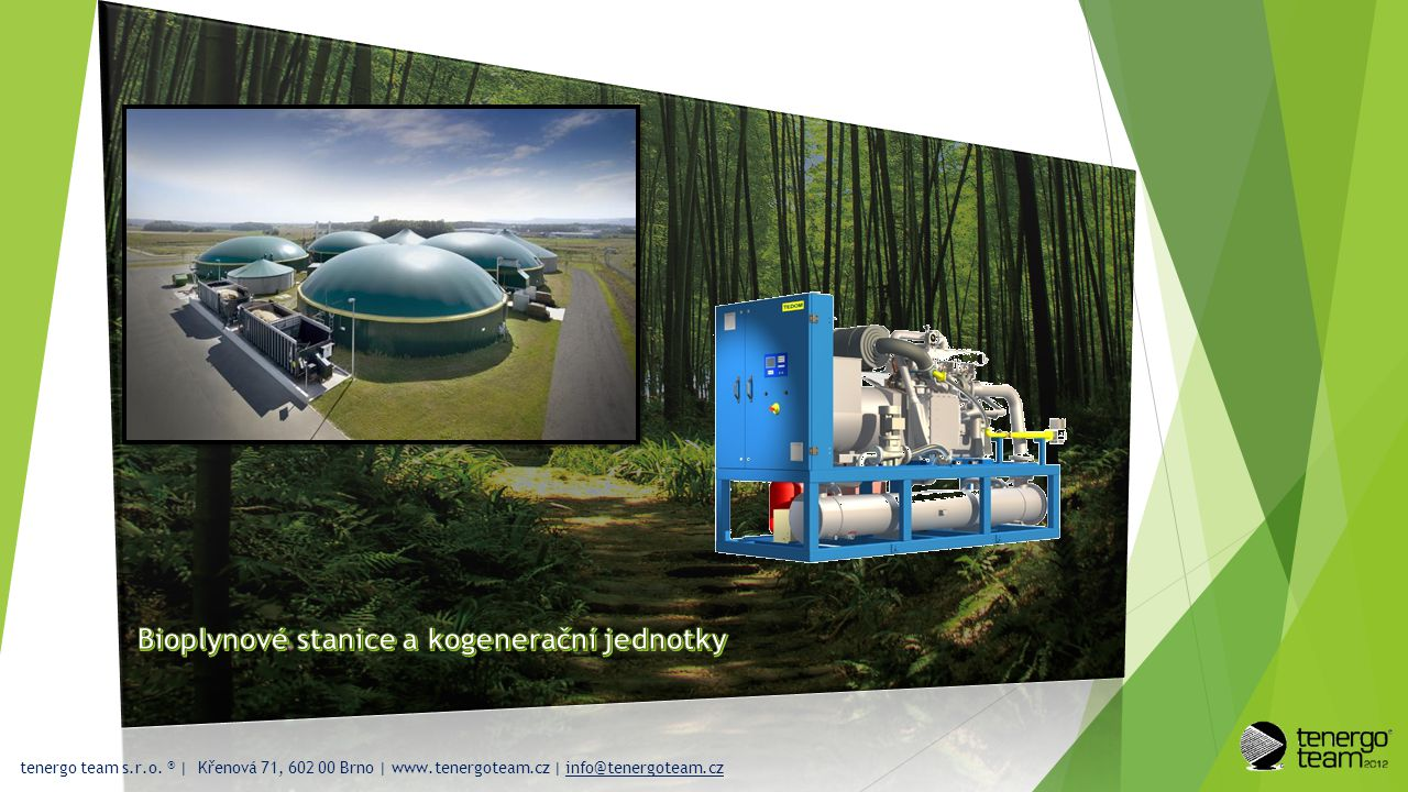 Bioplynové stanice a kogenerační jednotky