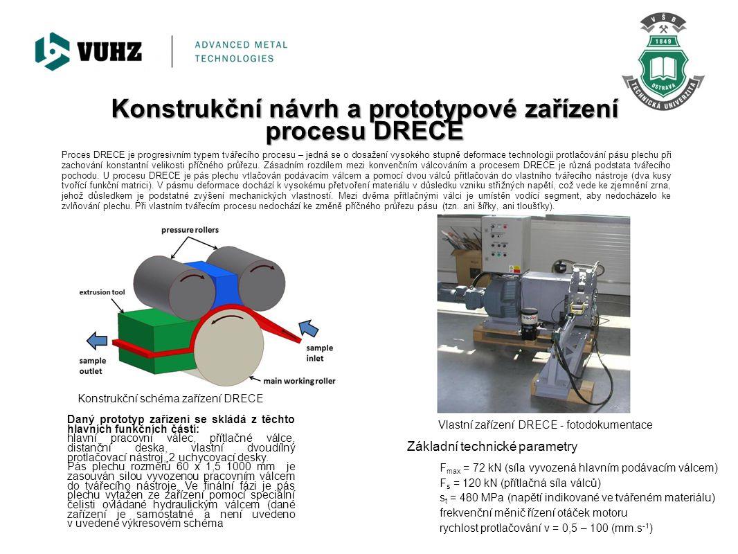 Konstrukční návrh a prototypové zařízení procesu DRECE