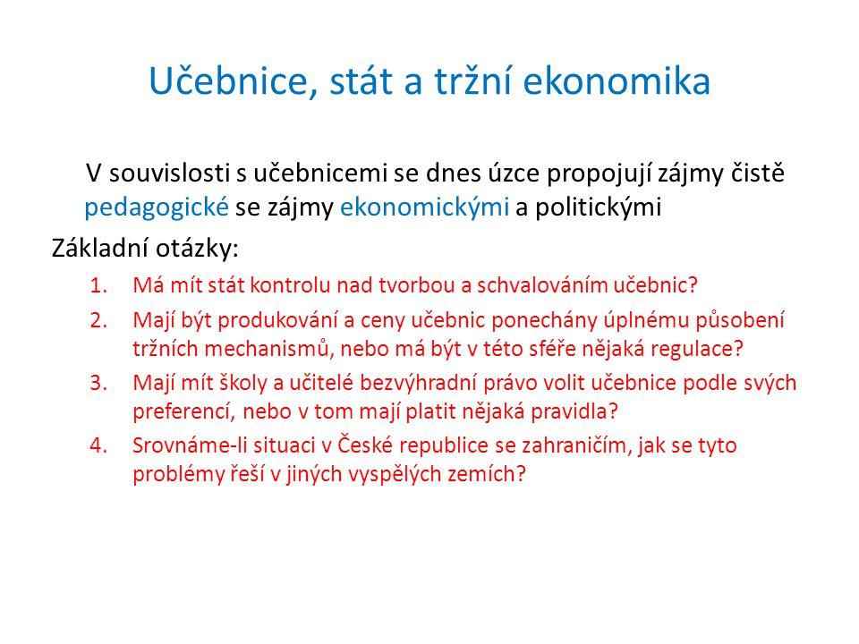 Učebnice, stát a tržní ekonomika
