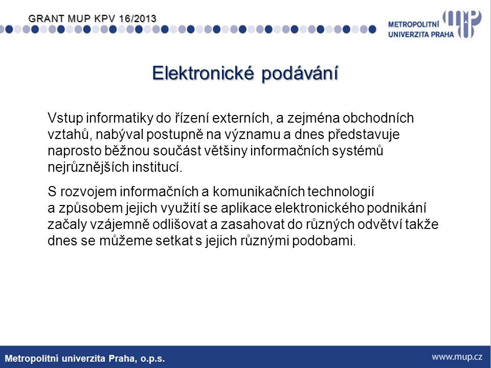 Elektronické podávání