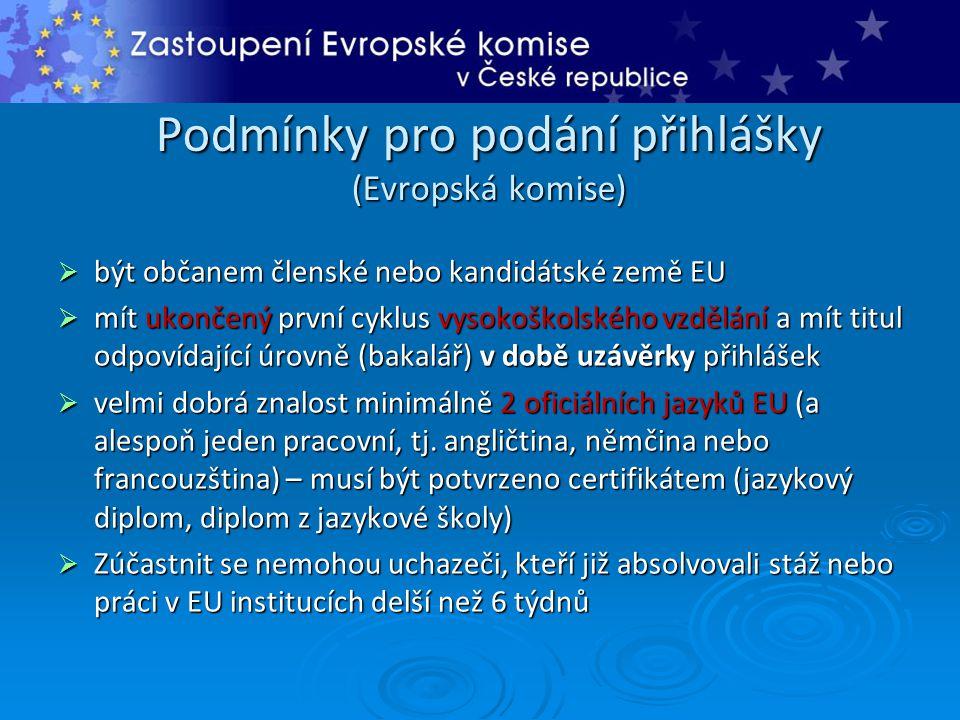 Podmínky pro podání přihlášky (Evropská komise)