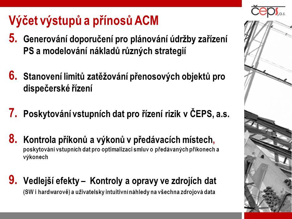 Výčet výstupů a přínosů ACM