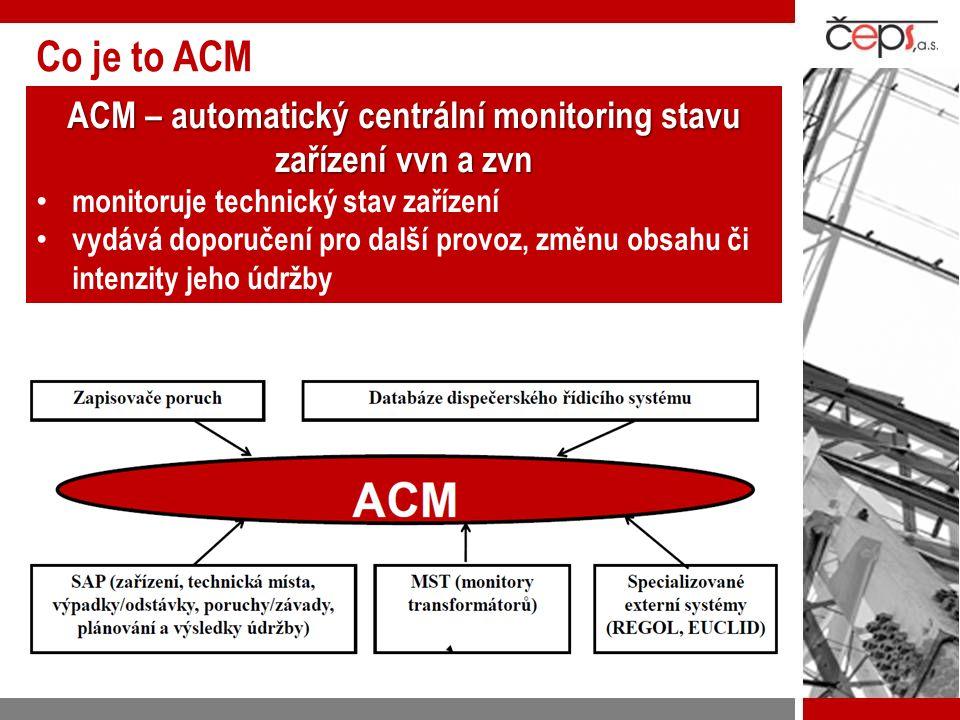 ACM – automatický centrální monitoring stavu zařízení vvn a zvn