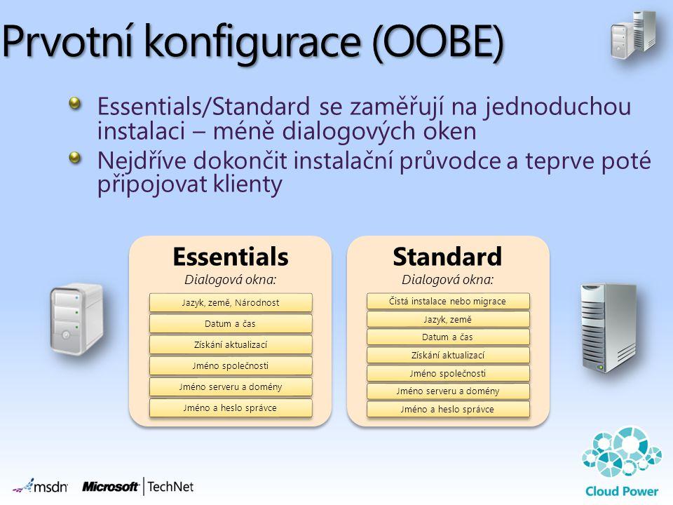 Prvotní konfigurace (OOBE)