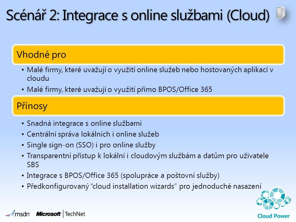 Scénář 2: Integrace s online službami (Cloud)