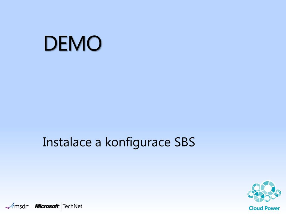 Instalace a konfigurace SBS