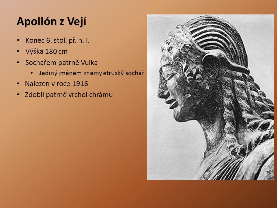 Apollón z Vejí Konec 6. stol. př. n. l. Výška 180 cm
