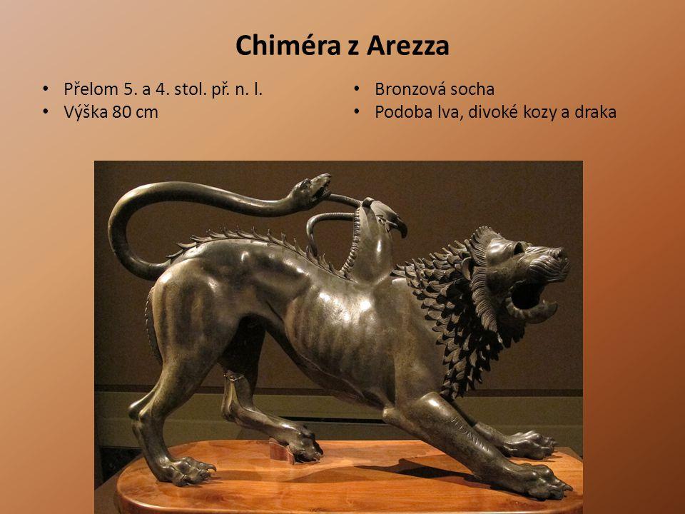 Chiméra z Arezza Přelom 5. a 4. stol. př. n. l. Bronzová socha