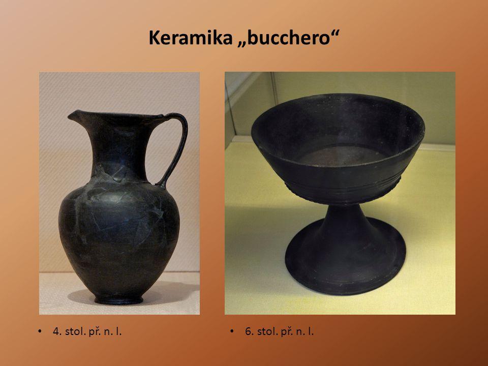 """Keramika """"bucchero 4. stol. př. n. l. 6. stol. př. n. l."""