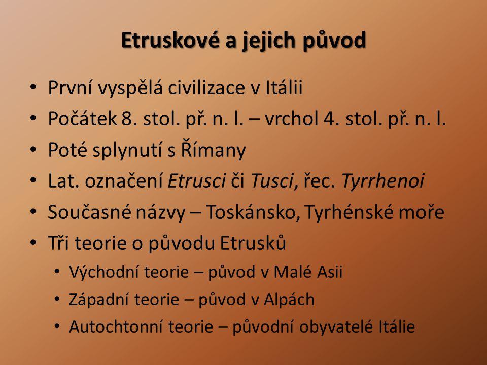 Etruskové a jejich původ