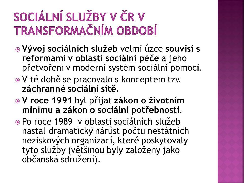Sociální služby v ČR v transformačním období