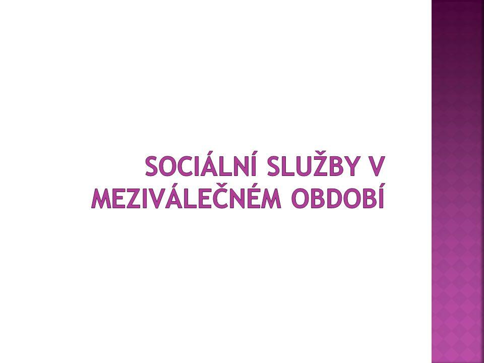 Sociální služby v meziválečném období