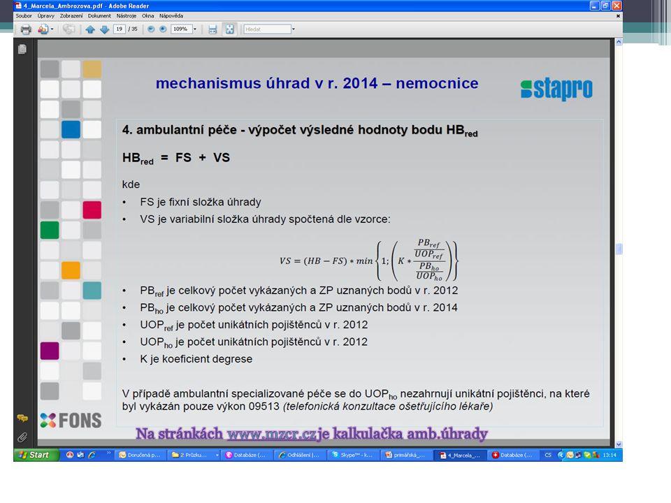 Na stránkách www.mzcr.cz je kalkulačka amb.úhrady