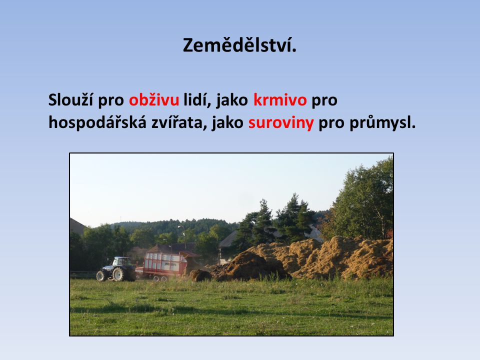 Zemědělství.