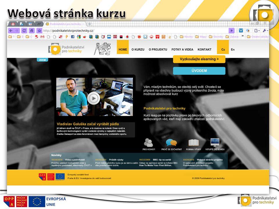 Webová stránka kurzu