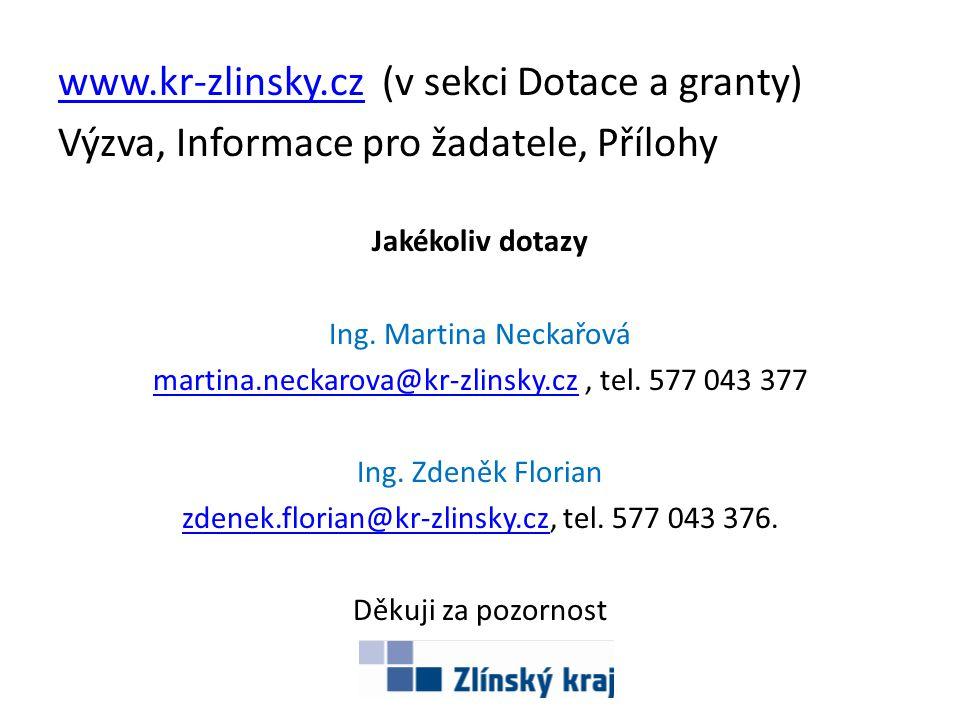www.kr-zlinsky.cz (v sekci Dotace a granty)
