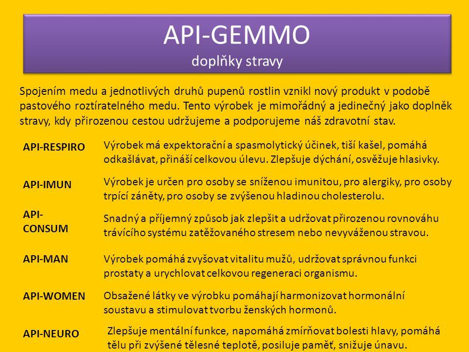API-GEMMO doplňky stravy