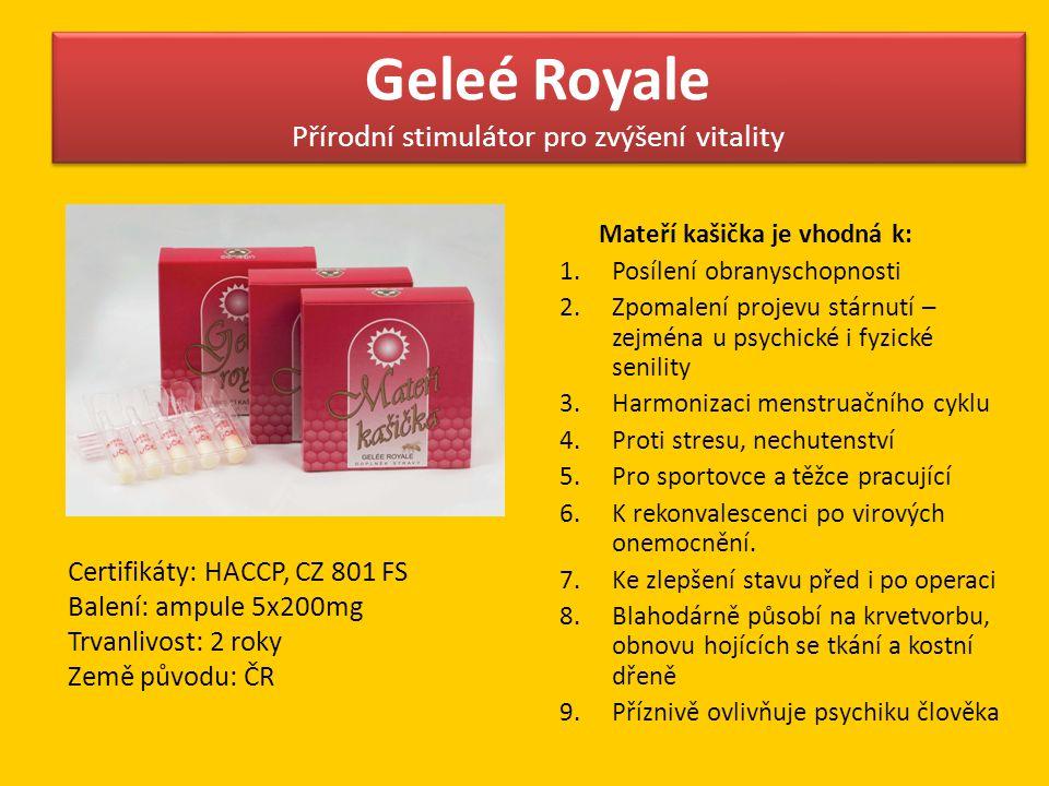 Geleé Royale Přírodní stimulátor pro zvýšení vitality