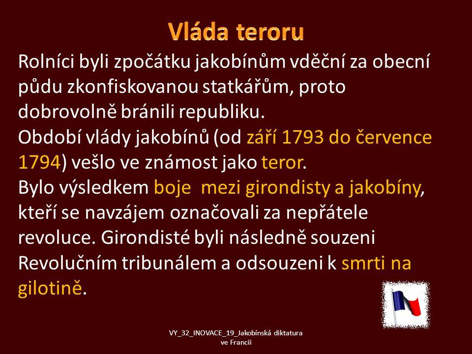 VY_32_INOVACE_19_Jakobínská diktatura ve Francii