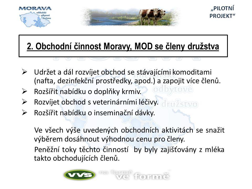 2. Obchodní činnost Moravy, MOD se členy družstva