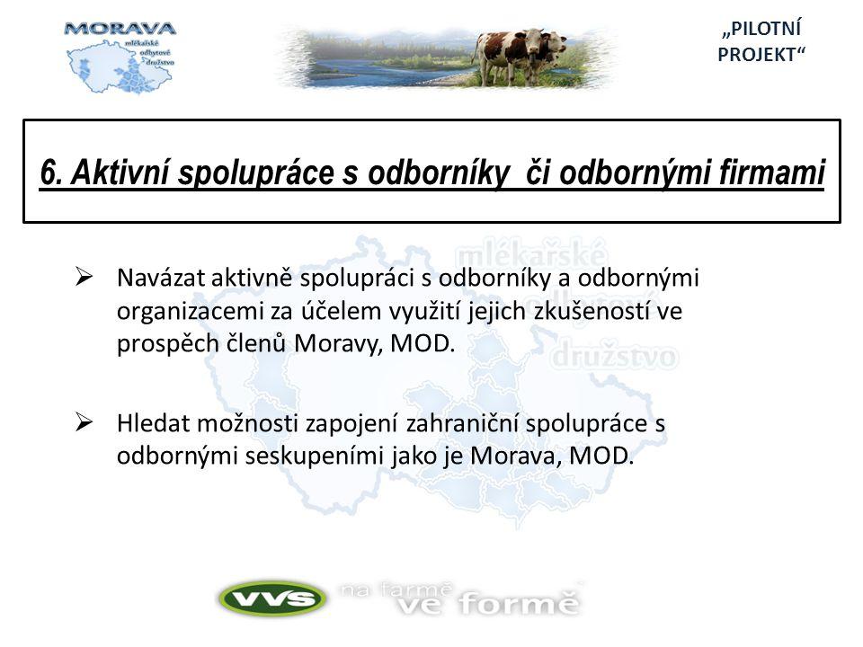 6. Aktivní spolupráce s odborníky či odbornými firmami