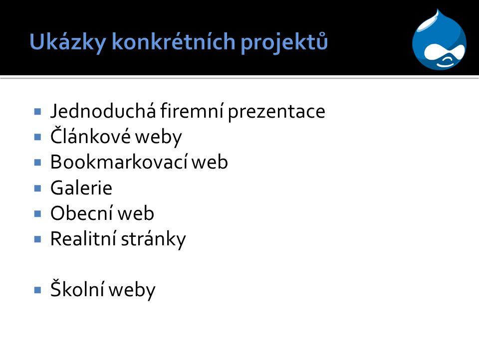 Ukázky konkrétních projektů