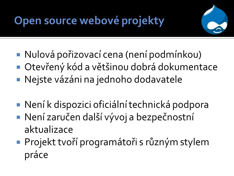 Open source webové projekty