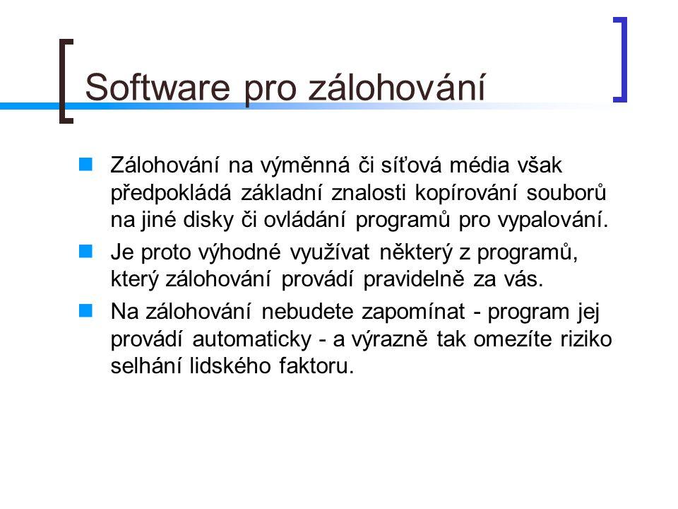 Software pro zálohování