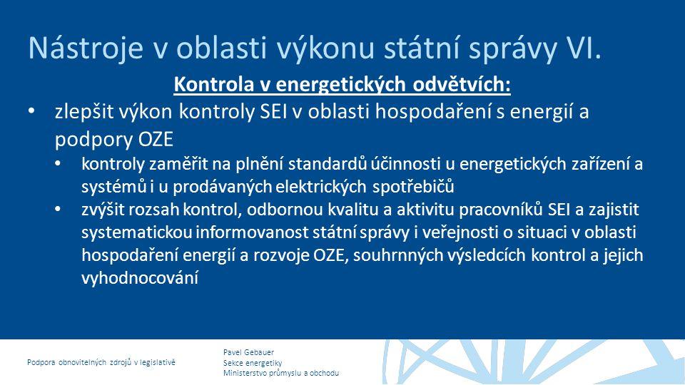 Kontrola v energetických odvětvích: