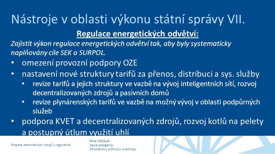 Regulace energetických odvětví: