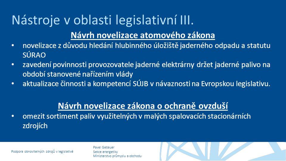 Návrh novelizace atomového zákona