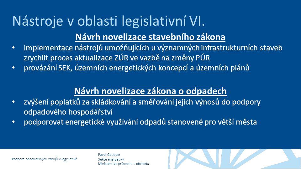Návrh novelizace stavebního zákona
