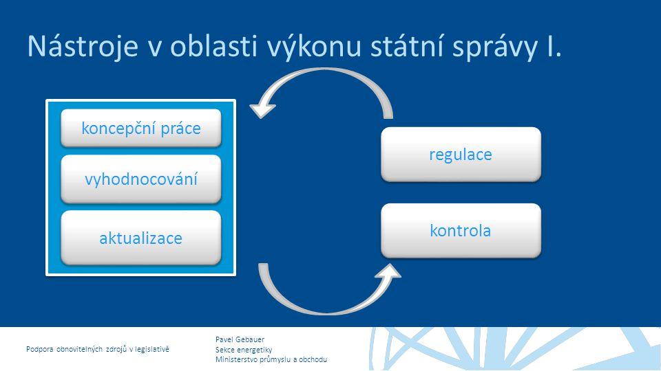 Nástroje v oblasti výkonu státní správy I.