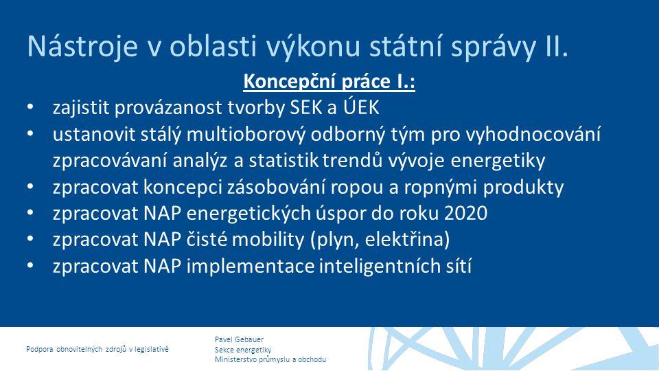 Nástroje v oblasti výkonu státní správy II.