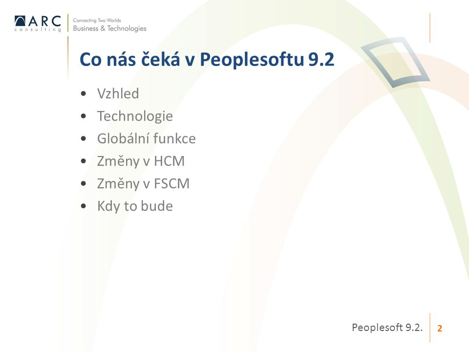 Co nás čeká v Peoplesoftu 9.2
