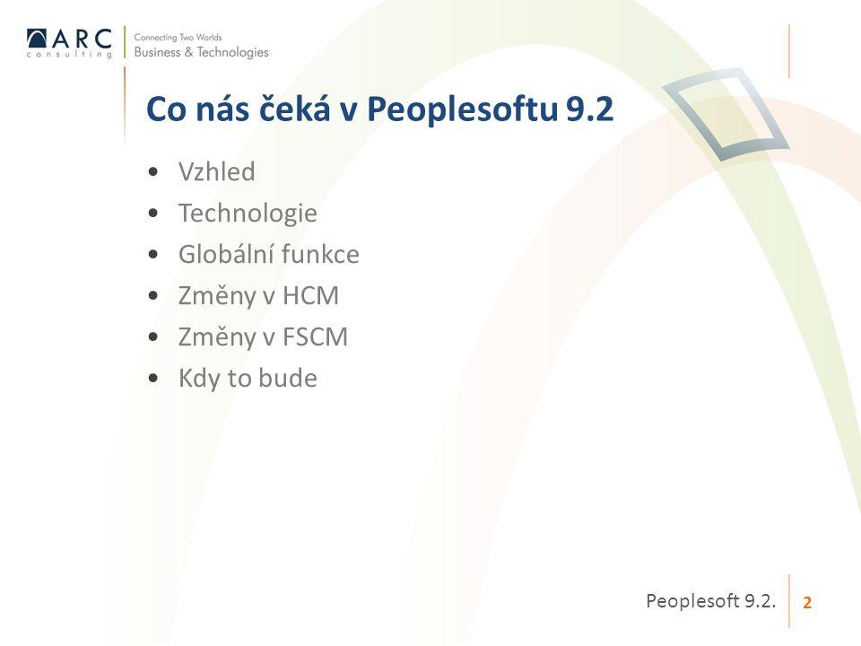 Co nás čeká v Peoplesoftu 9.2