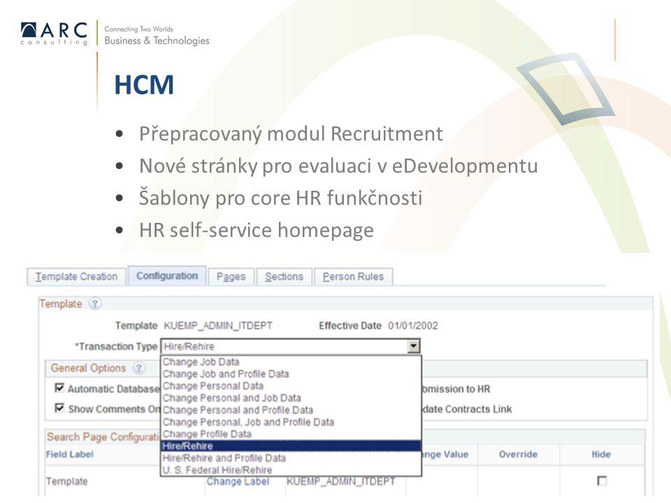 HCM Přepracovaný modul Recruitment