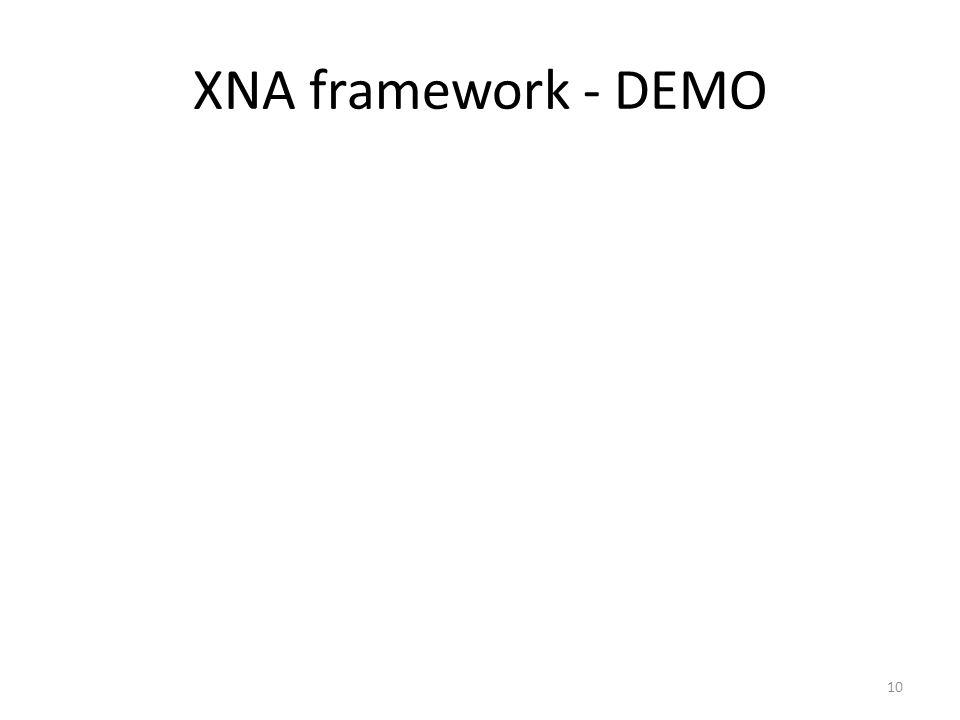 XNA framework - DEMO