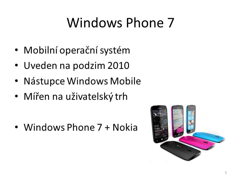 Windows Phone 7 Mobilní operační systém Uveden na podzim 2010