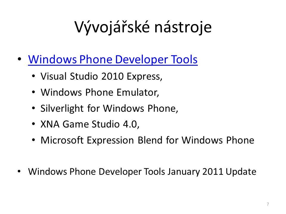 Vývojářské nástroje Windows Phone Developer Tools