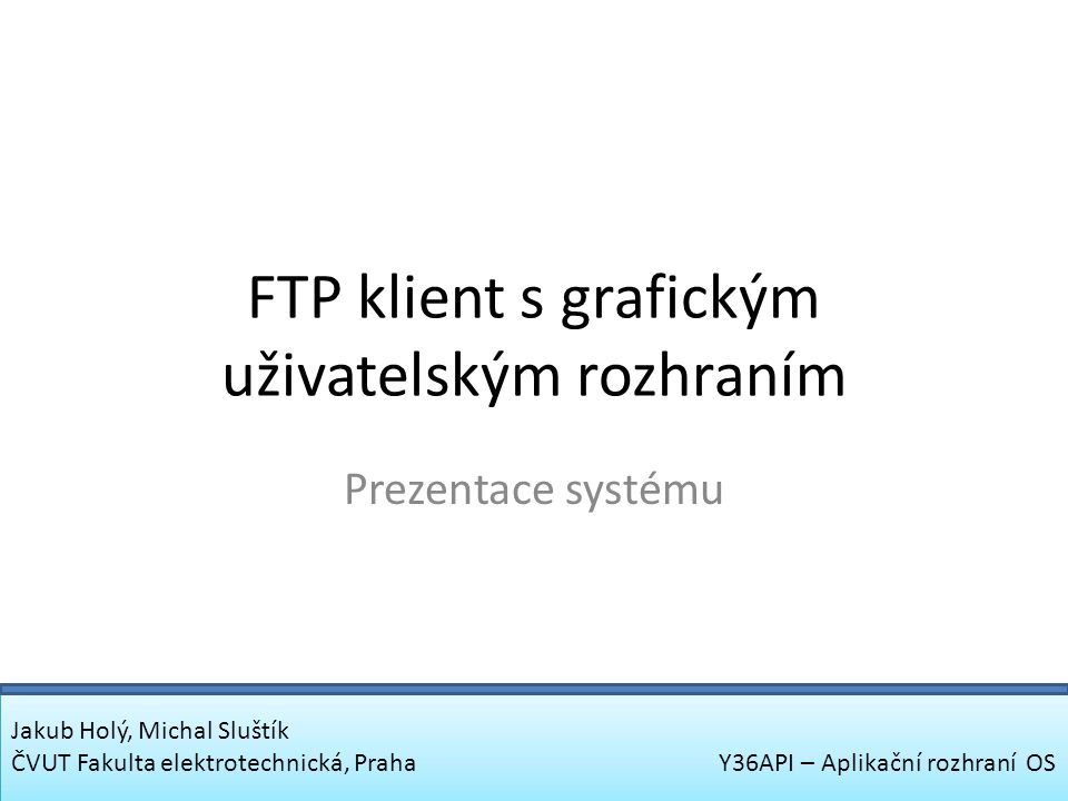 FTP klient s grafickým uživatelským rozhraním