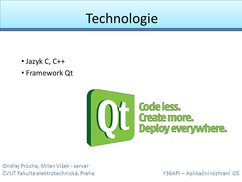 Jazyk C, C++ Framework Qt