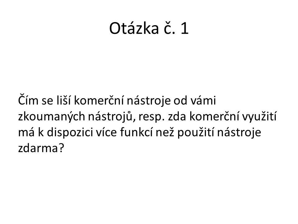 Otázka č. 1